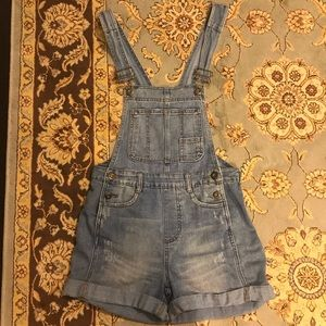 Free People denim short overalls ( shortalls )